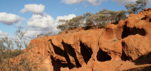Outback cliff holes